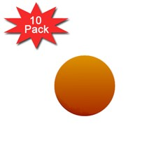 Amber To Mahogany Gradient 1  Mini Button (10 pack)