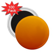 Amber To Mahogany Gradient 2 25  Button Magnet (100 Pack)