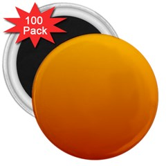 Amber To Mahogany Gradient 3  Button Magnet (100 pack)