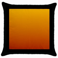 Amber To Mahogany Gradient Black Throw Pillow Case