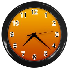 Amber To Mahogany Gradient Wall Clock (black)
