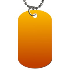 Amber To Mahogany Gradient Dog Tag (Two Sided)