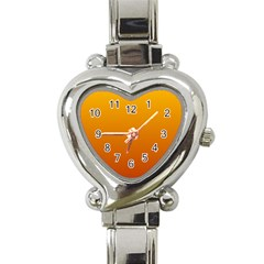 Amber To Mahogany Gradient Heart Italian Charm Watch