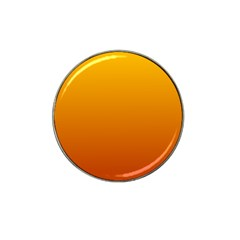 Amber To Mahogany Gradient Golf Ball Marker (for Hat Clip)
