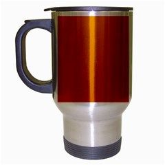 Amber To Mahogany Gradient Travel Mug (Silver Gray)