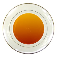 Amber To Mahogany Gradient Porcelain Display Plate