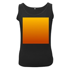 Amber To Mahogany Gradient Womens  Tank Top (Black)
