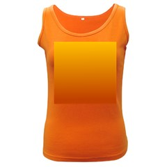 Amber To Mahogany Gradient Womens  Tank Top (dark Colored)