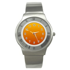 Amber To Mahogany Gradient Stainless Steel Watch (unisex)