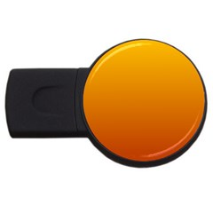 Amber To Mahogany Gradient 4GB USB Flash Drive (Round)