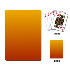 Amber To Mahogany Gradient Playing Cards Single Design