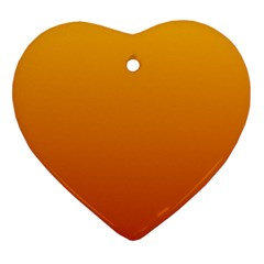 Amber To Mahogany Gradient Heart Ornament (Two Sides)