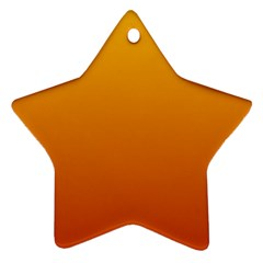 Amber To Mahogany Gradient Star Ornament (Two Sides)