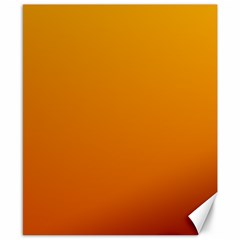 Amber To Mahogany Gradient Canvas 8  x 10  (Unframed)