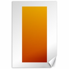 Amber To Mahogany Gradient Canvas 24  X 36  (unframed)