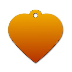 Amber To Mahogany Gradient Dog Tag Heart (one Sided)