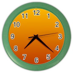 Amber To Mahogany Gradient Wall Clock (Color)