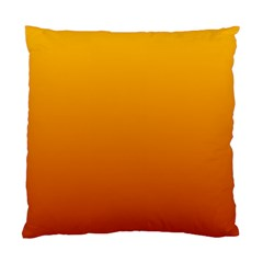 Amber To Mahogany Gradient Cushion Case (One Side)