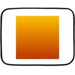 Amber To Mahogany Gradient Mini Fleece Blanket (Two-sided)