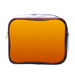 Amber To Mahogany Gradient Mini Travel Toiletry Bag (one Side)