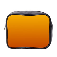 Amber To Mahogany Gradient Mini Travel Toiletry Bag (Two Sides)