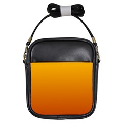 Amber To Mahogany Gradient Girl s Sling Bag