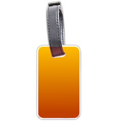 Amber To Mahogany Gradient Luggage Tag (two Sides)