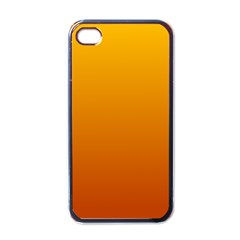 Amber To Mahogany Gradient Apple Iphone 4 Case (black)