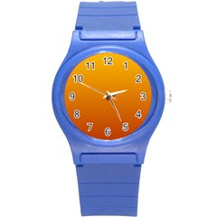 Amber To Mahogany Gradient Plastic Sport Watch (Small)