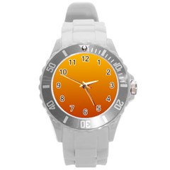 Amber To Mahogany Gradient Plastic Sport Watch (Large)