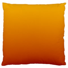 Amber To Mahogany Gradient Large Cushion Case (One Side)