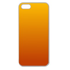 Amber To Mahogany Gradient Apple Seamless iPhone 5 Case (Clear)