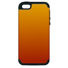 Amber To Mahogany Gradient Apple iPhone 5 Hardshell Case (PC+Silicone)