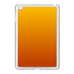 Amber To Mahogany Gradient Apple iPad Mini Case (White)