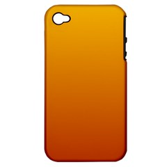 Amber To Mahogany Gradient Apple iPhone 4/4S Hardshell Case (PC+Silicone)