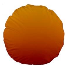 Amber To Mahogany Gradient 18  Premium Round Cushion