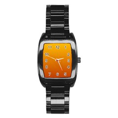 Amber To Mahogany Gradient Men s Stainless Steel Barrel Analog Watch