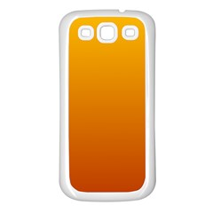 Amber To Mahogany Gradient Samsung Galaxy S3 Back Case (white)