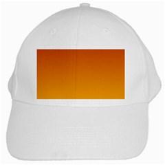 Mahogany To Amber Gradient White Baseball Cap