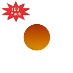 Mahogany To Amber Gradient 1  Mini Button (100 pack)
