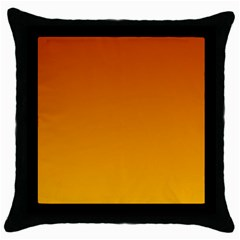Mahogany To Amber Gradient Black Throw Pillow Case