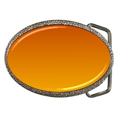 Mahogany To Amber Gradient Belt Buckle (Oval)