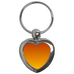 Mahogany To Amber Gradient Key Chain (Heart)