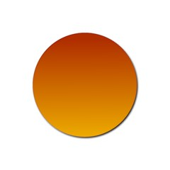 Mahogany To Amber Gradient Drink Coaster (Round)