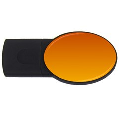Mahogany To Amber Gradient 1GB USB Flash Drive (Oval)