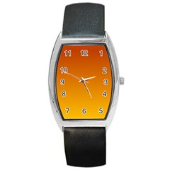 Mahogany To Amber Gradient Tonneau Leather Watch