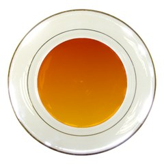 Mahogany To Amber Gradient Porcelain Display Plate