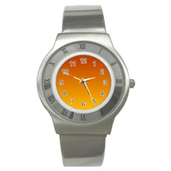 Mahogany To Amber Gradient Stainless Steel Watch (Unisex)