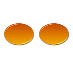 Mahogany To Amber Gradient Cufflinks (Oval)