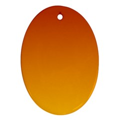 Mahogany To Amber Gradient Oval Ornament (Two Sides)